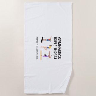 TOP Gymnastics Triple Threat Beach Towel