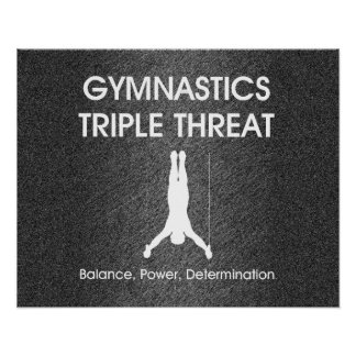 TOP Gymnastics Triple Threat (Men's) Poster