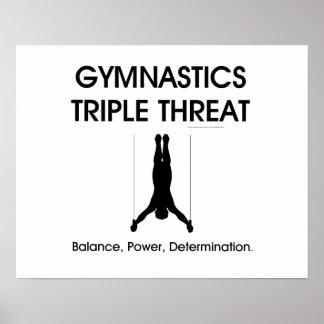 TOP Gymnastics Triple Threat (Men's) Poster