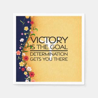 TOP Gymnastics Victory Slogan Paper Napkins