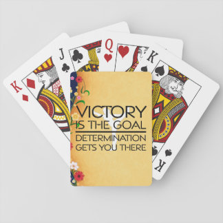 TOP Gymnastics Victory Slogan Poker Deck