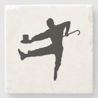 Top Hat and Cane Tap Dancer Stone Coaster