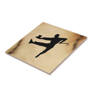 Top Hat and Cane Tap Dancer Tile