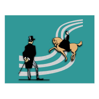 Top Hat and Tails Postcard