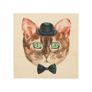 Top Hat Cat Wall Art