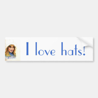 Top-hat girl bumper stickers