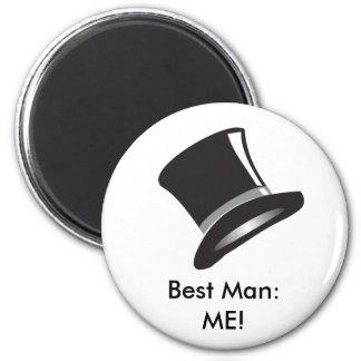 Top Hat 2 Inch Round Magnet