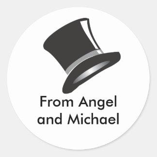Top Hat Round Sticker