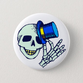 Top Hat Skeleton Button
