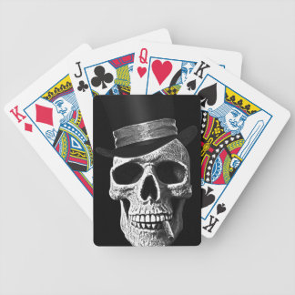 Top hat skull bicycle playing cards