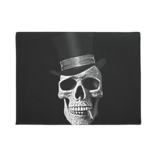 Top hat skull doormat