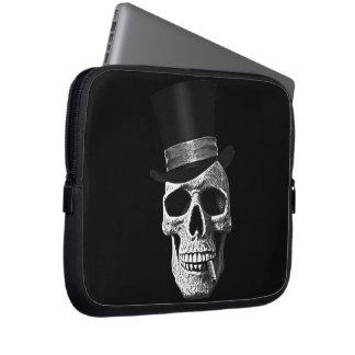 Top hat skull laptop sleeve
