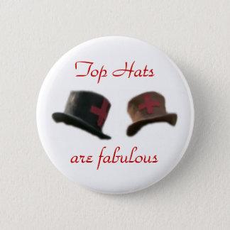 Top hats 2 inch round button