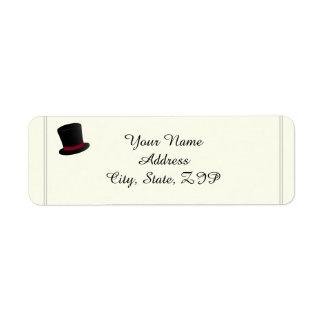 Top Hats and Bow Ties Return Address Return Address Label