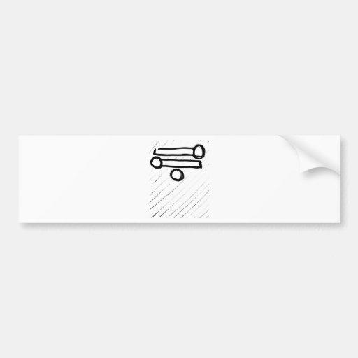 top heavy matchstick's bumper stickers