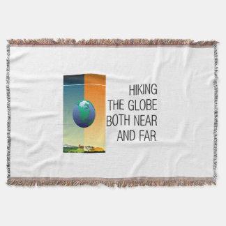 TOP Hike the Globe Throw Blanket