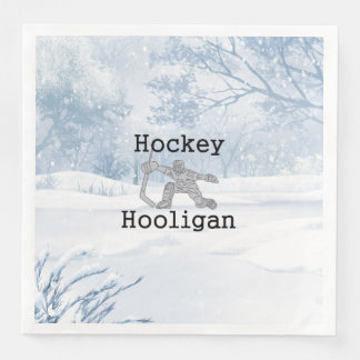 TOP Hockey Hooligan Paper Dinner Napkin