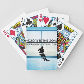 TOP Hockey Victory Slogan Bicycle Playing Cards
