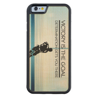 TOP Hockey Victory Slogan Carved Maple iPhone 6 Bumper Case