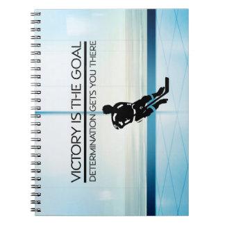 TOP Hockey Victory Slogan Notebook