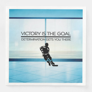 TOP Hockey Victory Slogan Paper Dinner Napkin