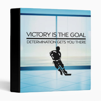 TOP Hockey Victory Slogan Vinyl Binders