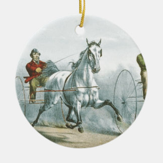 TOP Horse Poetry Ceramic Ornament