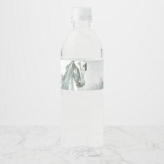 TOP Horse Poetry Water Bottle Label