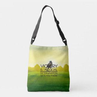 TOP Horse Race Victory Slogan Crossbody Bag