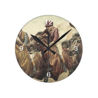 TOP Horse Racing Round Clock