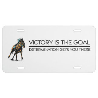 TOP Horse Racing Victory Slogan License Plate