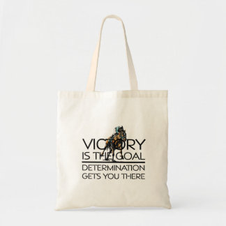 TOP Horse Racing Victory Slogan Tote Bag