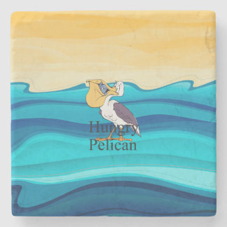 TOP Hungry Pelican Stone Coaster