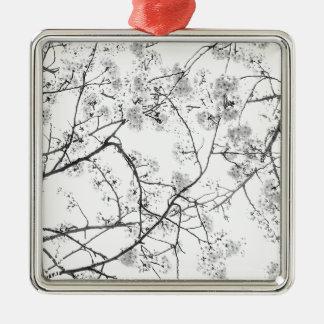 """Top japan modern art photographer kouno kazuhira Silver-Colored Square Ornament"