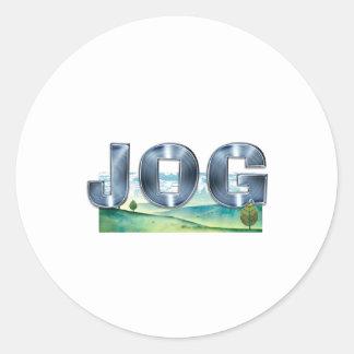 TOP Jog Round Sticker