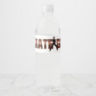 TOP Karate Girl Water Bottle Label