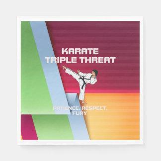 TOP Karate Slogan Paper Napkins