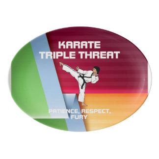 TOP Karate Slogan Porcelain Serving Platter