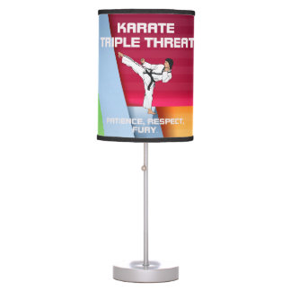 TOP Karate Triple Threat Table Lamps