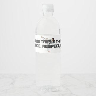 TOP Karate Triple Threat Water Bottle Label