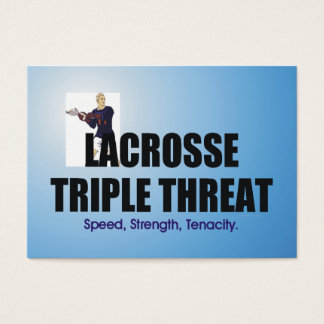 TOP Lacrosse Triple Threat Business Card