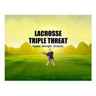 TOP Lacrosse Triple Threat Postcard