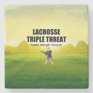 TOP Lacrosse Triple Threat Stone Coaster