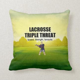 TOP Lacrosse Triple Threat Throw Pillow