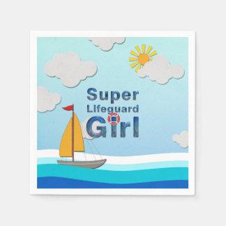 TOP Lifeguard Girl Paper Napkin