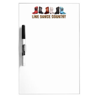 TOP Line Dance Country Dry Erase Boards