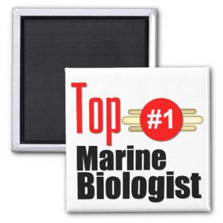 Top Marine Biologist Square Magnet