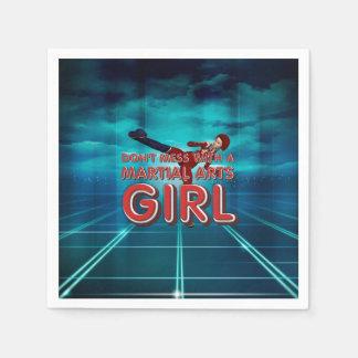 TOP Martial Arts Girl Paper Napkin