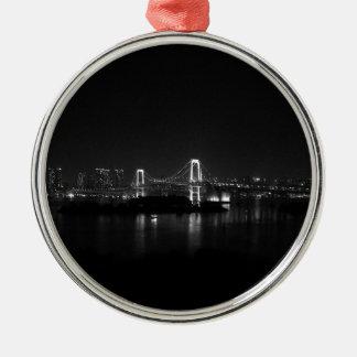 """Top modern art anisia art huyutsuki kazuhira jp "" Silver-Colored Round Ornament"