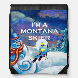 TOP Montana Skier Drawstring Bag